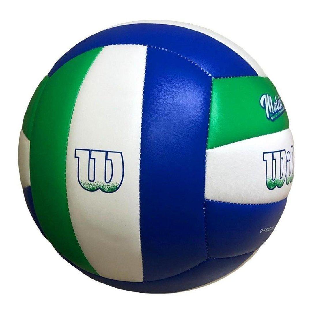 Bola Volei Wilson Match Point Verde Branco e Azul  - PROTENISTA