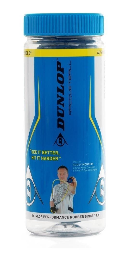 Bolas Dunlop Atomic Blue Para Frescobol - Tubo c/ 3 bolas  - PROTENISTA