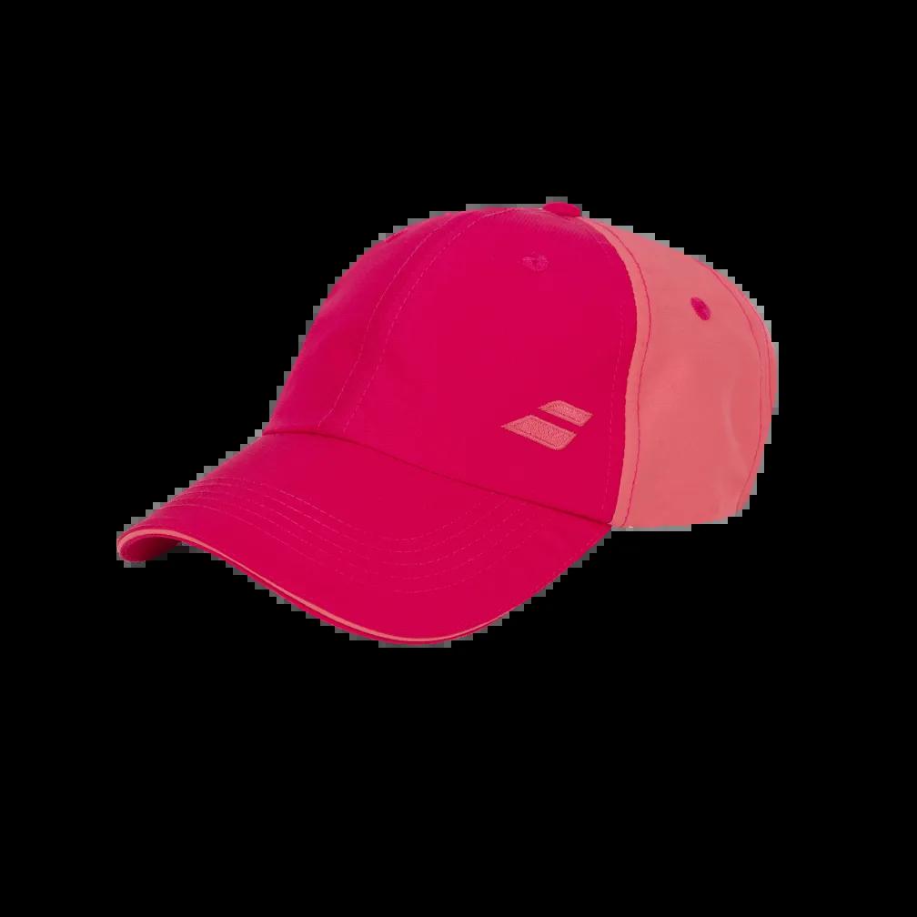 Boné Babolat Basic Logo Vermelho e Rosa  - PROTENISTA