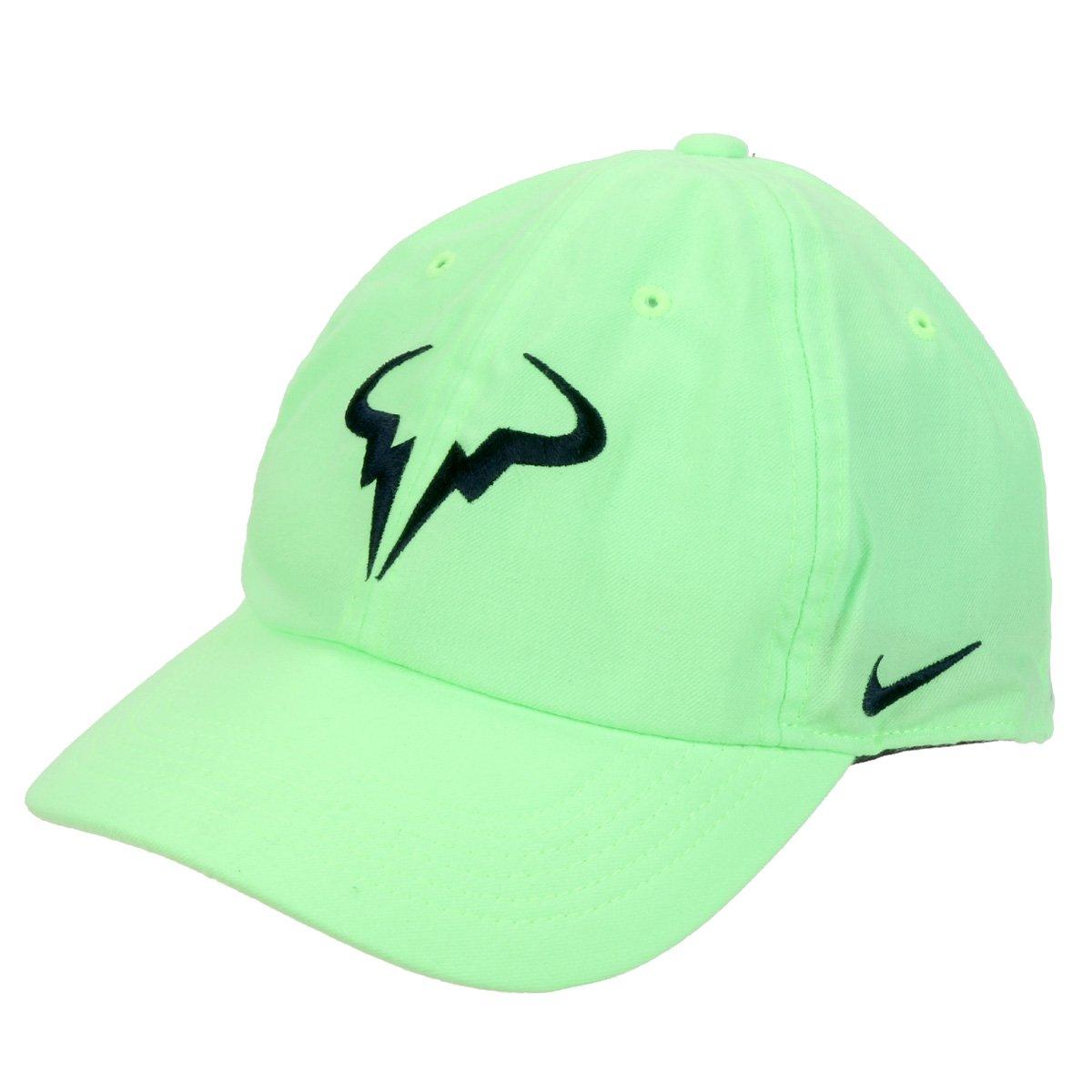 Boné Nike Rafael Nadal Aba Curva - Verde Limão  - PROTENISTA