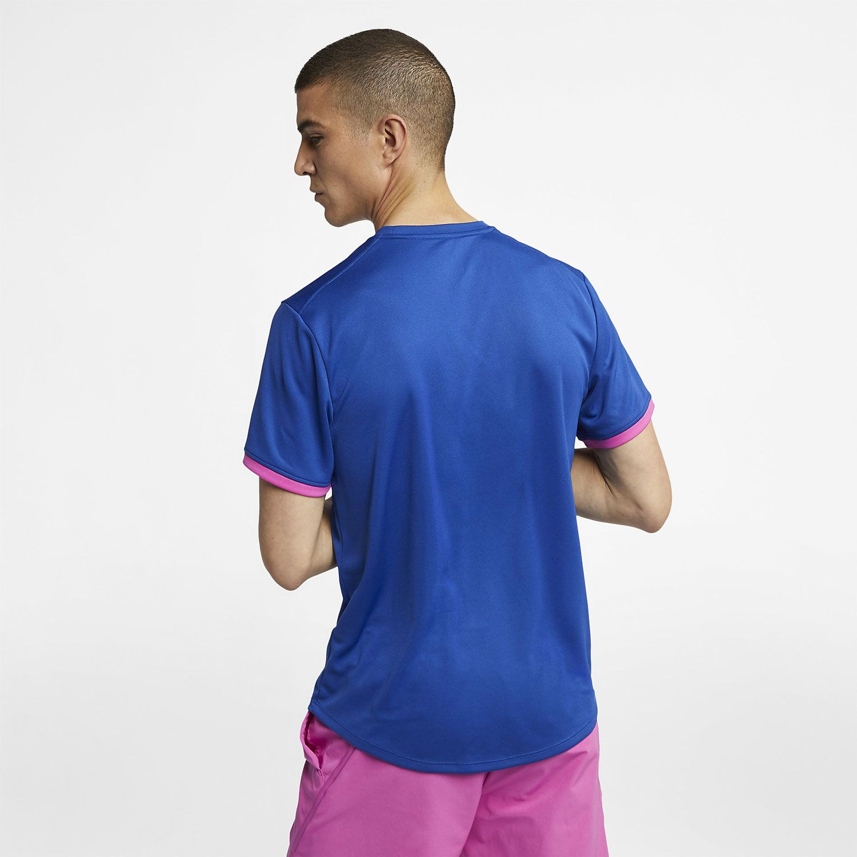Camiseta NikeCourt Dri-Fit Azul