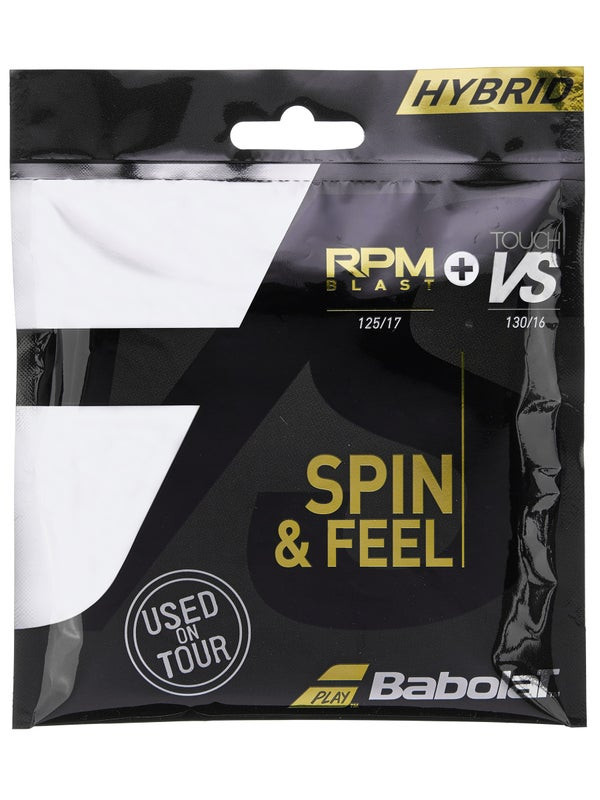 Corda Babolat Hybrid - Set Individual - RPM Blast 17L 1.25mm + Touch VS 16L 1.30mm   - PROTENISTA