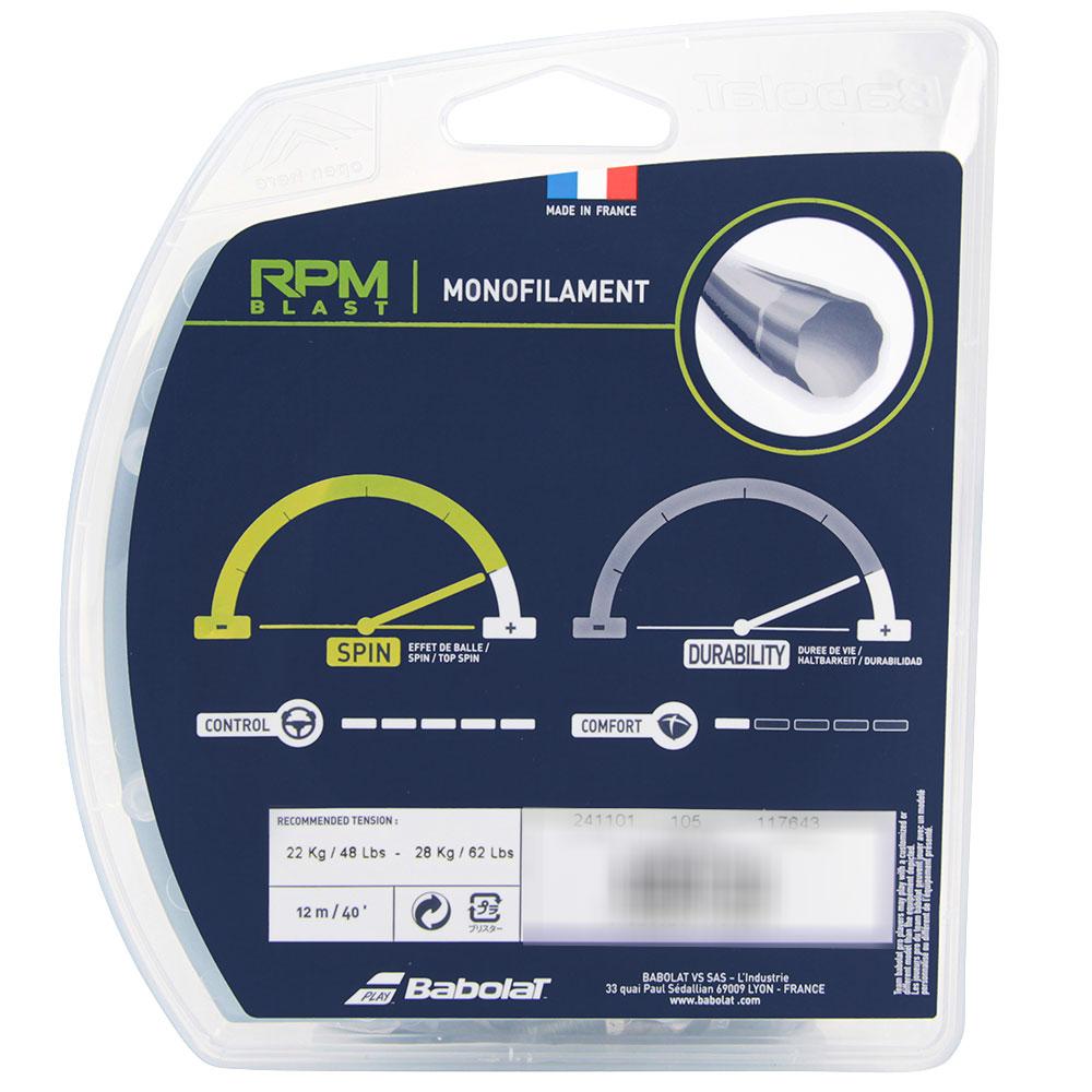 Corda Babolat RPM Blast 16L 1.30m Preta - Set Individual  - PROTENISTA
