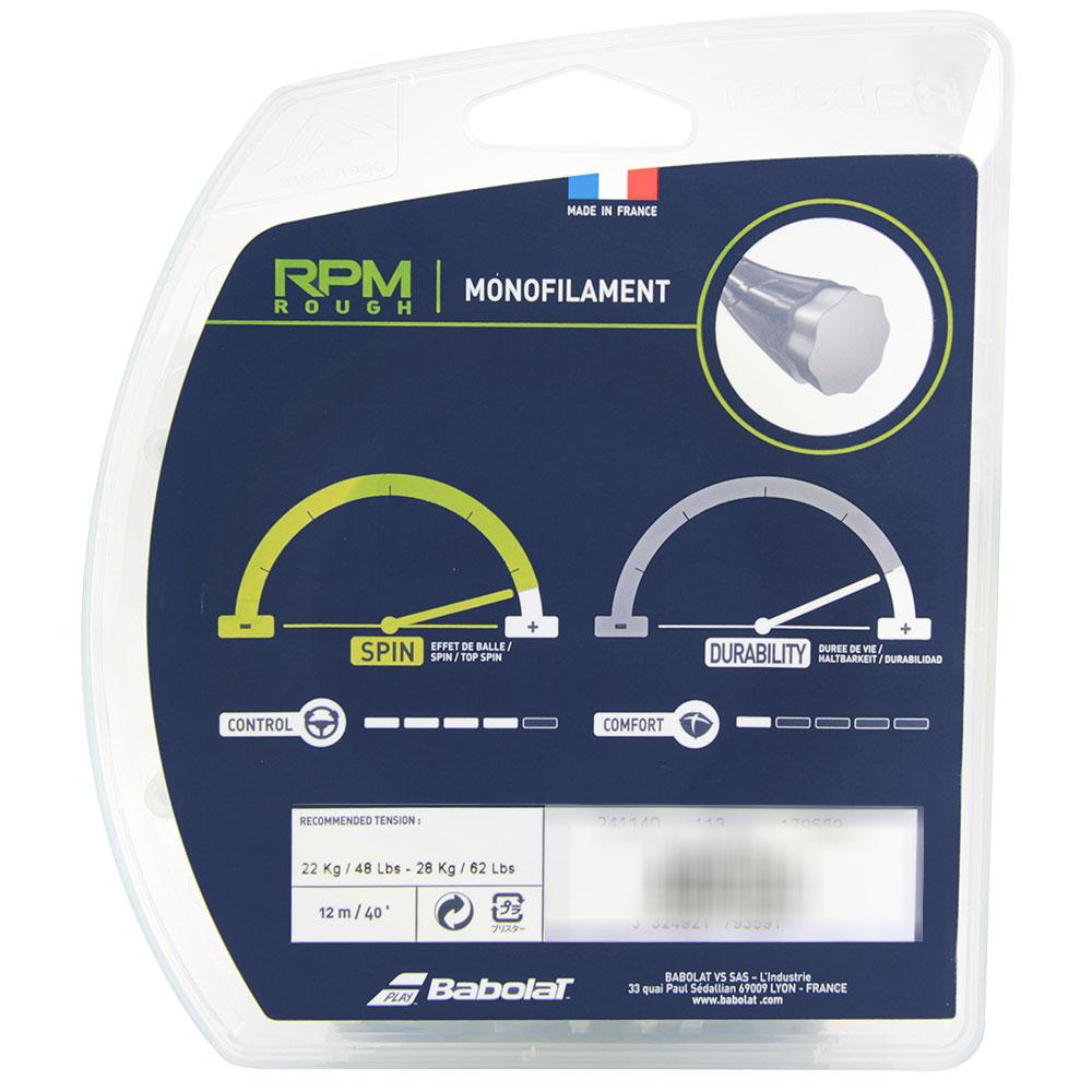 Corda Babolat RPM Rough 17L 1.25mm Preta - Set Individual  - PROTENISTA