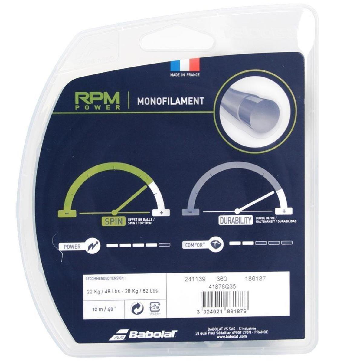 Corda Babolat RPM Power 17L - Set Individual  - PROTENISTA