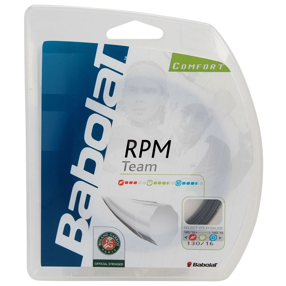 Corda Babolat RPM Team 16L 1.30mm Preta - Set Individual  - PROTENISTA