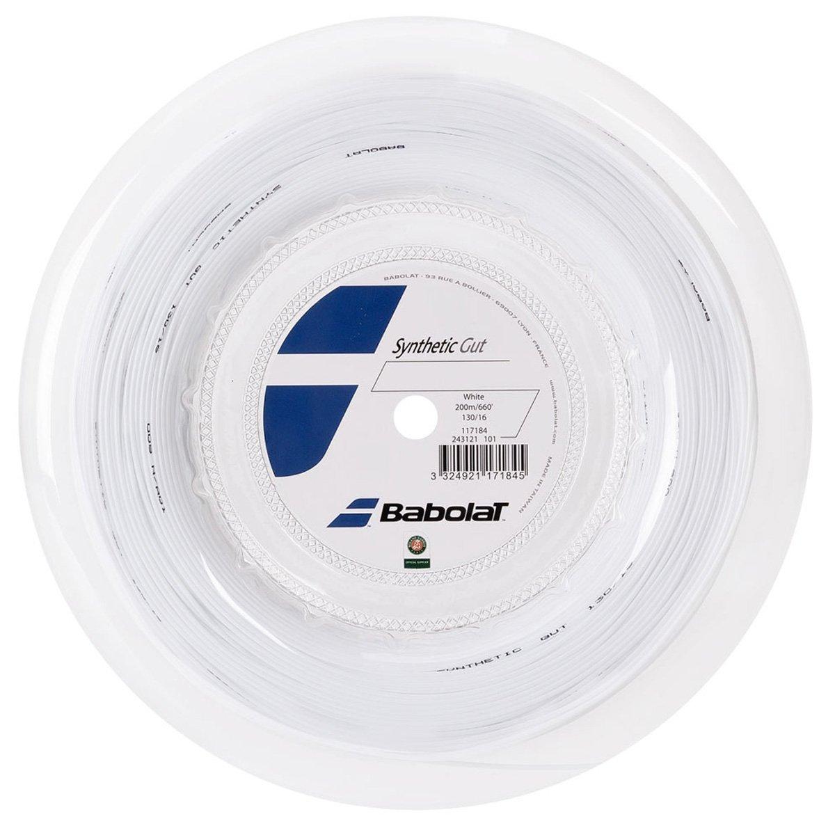 Corda Babolat Synthetic Gut 16 1.30mm Branco - Rolo com 200m  - PROTENISTA