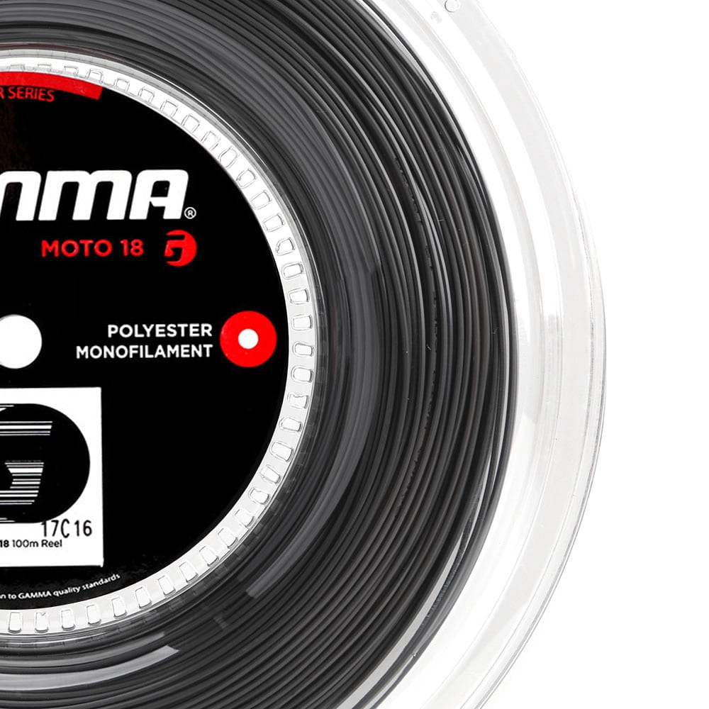 Corda Gamma Moto 18L 1.14mm Preta - Rolo com 100 metros  - PROTENISTA