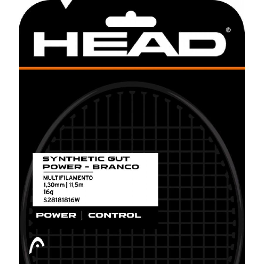 Corda Head DLD de Corda Synthetic Gut Power 16 Branco - Set Individual  - PROTENISTA