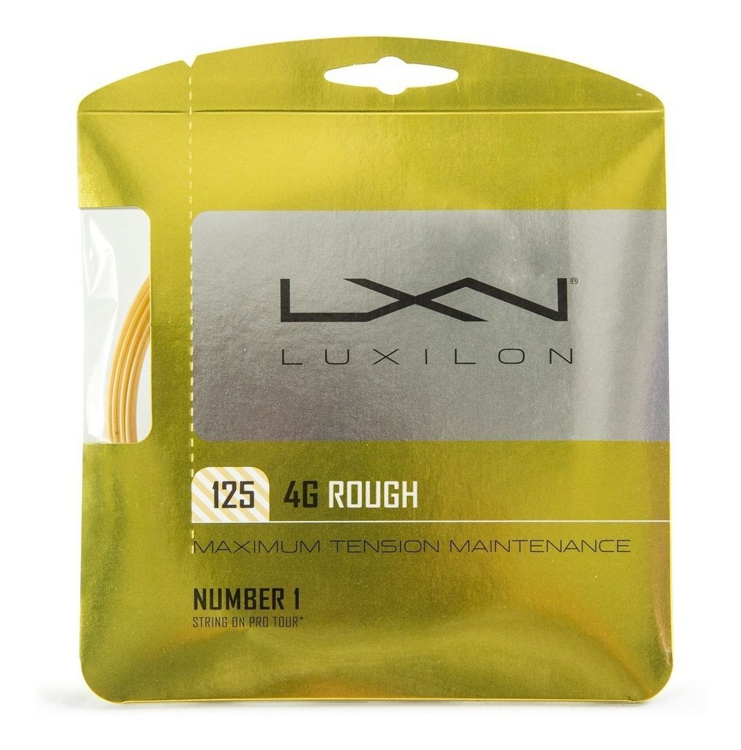 Corda Luxilon 4G 1.25mm Rough Amarela - Set Individual