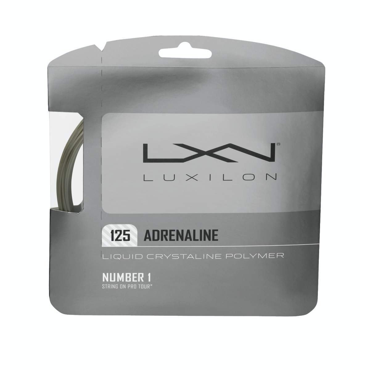 Corda Luxilon Adrenaline 16L 1.25mm Cinza - Set Individual  - PROTENISTA