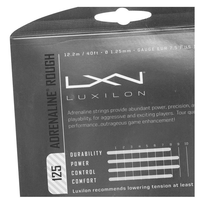 Corda Luxilon Adrenaline 16L 1.25mm Rough Cinza - Set Individual WRZ994200  - PROTENISTA
