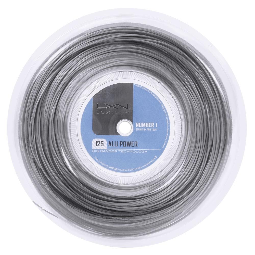 Corda Luxilon Alu Power 16l 1.25mm Prata Rolo Com 200 Metros  - PROTENISTA
