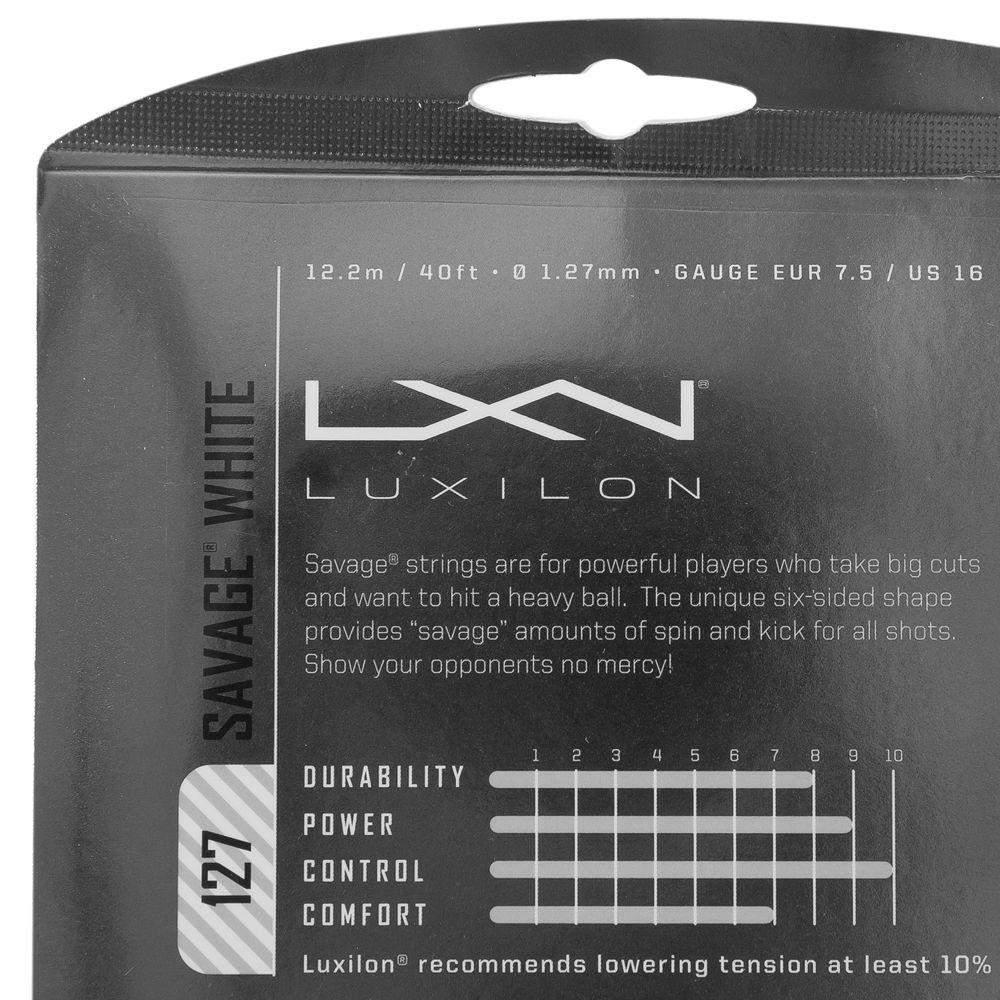 Corda Luxilon Savage 16L 1.27mm Branca - Set Individual  - PROTENISTA