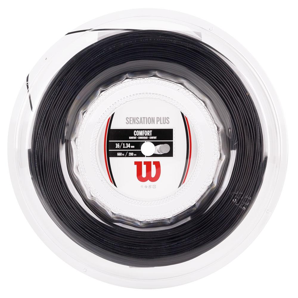 Corda Wilson Sensation Plus 16L 1.34mm - Preto - Rolo com 200m  - PROTENISTA