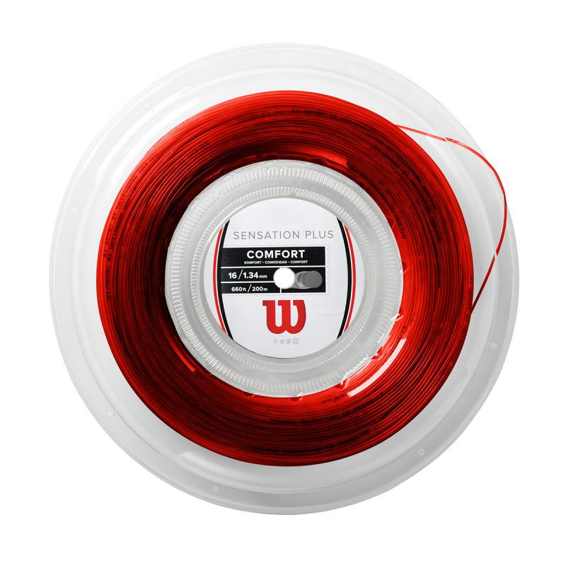 Corda Wilson Sensation Plus 16L 1.34mm - Vermelho - Rolo com 200m  - PROTENISTA
