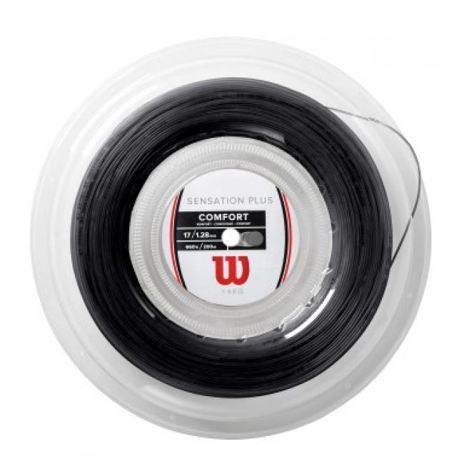 Corda Wilson Sensation Plus 17L 1.28mm - Preto - Rolo com 200m  - PROTENISTA