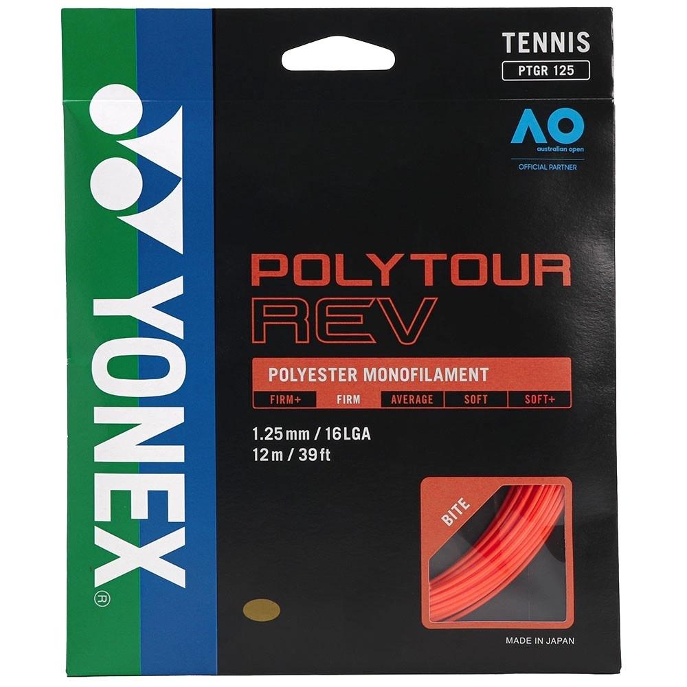 Corda Yonex PolyTour REV 16L 1.25mm Laranja - Set Individual  - PROTENISTA