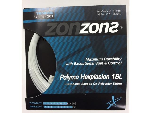 Corda Zons Hexplosion 16l 1.28mm Preta - Set Individual  - PROTENISTA
