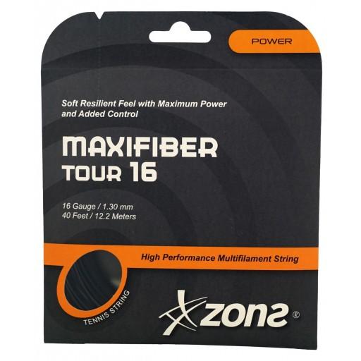 Corda Zons Maxfiber Tour 16 1.30mm Multifilamento Preta - Set Individual  - PROTENISTA