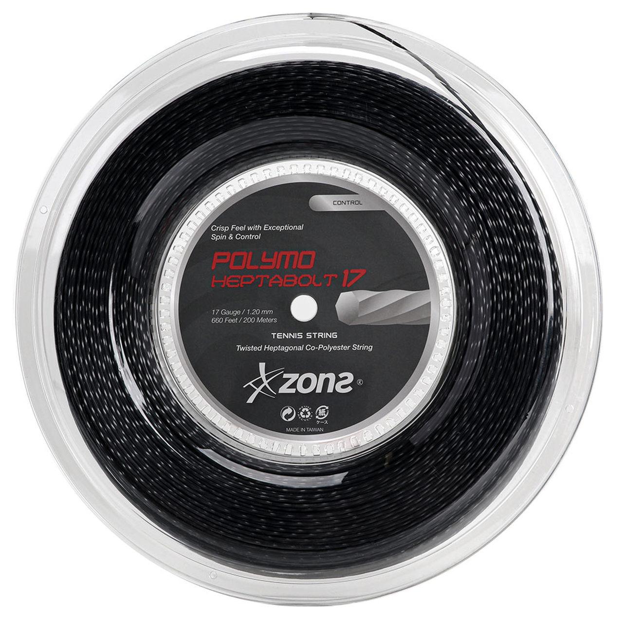 Corda Zons Polymo Heptabolt 17 1.20mm - Preta - Rolo com 200m  - PROTENISTA