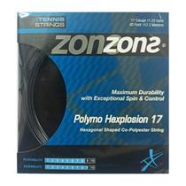 Corda Zons Polymo Hexplosion 17 1.23mm Preta - Set Individual  - PROTENISTA