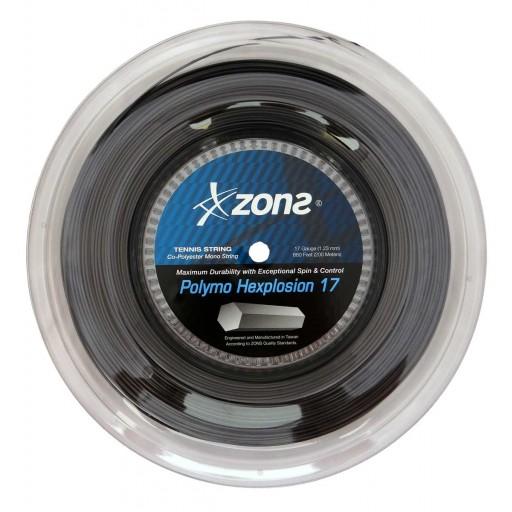 Corda Zons Polymo Hexplosion 17 1.23mm - Rolo com 200 Metros  - PROTENISTA