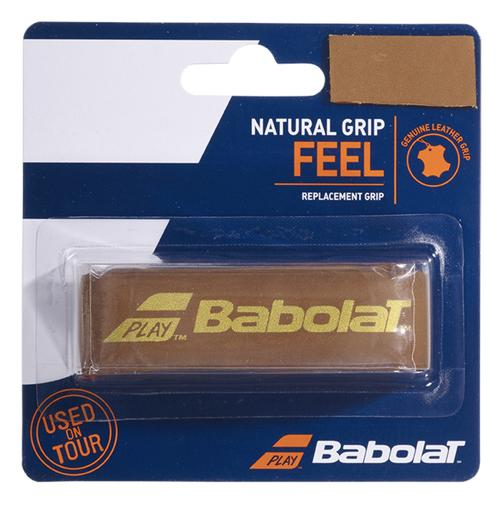 Cushion Babolat Couro Natural Grip Feel Marrom  - PROTENISTA
