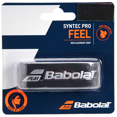 Cushion Grip Babolat Syntec Pro Preto/Prata  - PROTENISTA