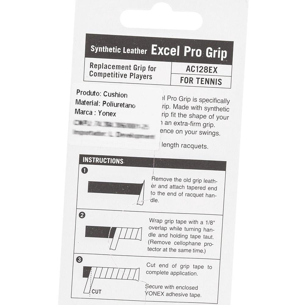 Cushion Grip Yonex Excel Pro AC128 Preto  - PROTENISTA