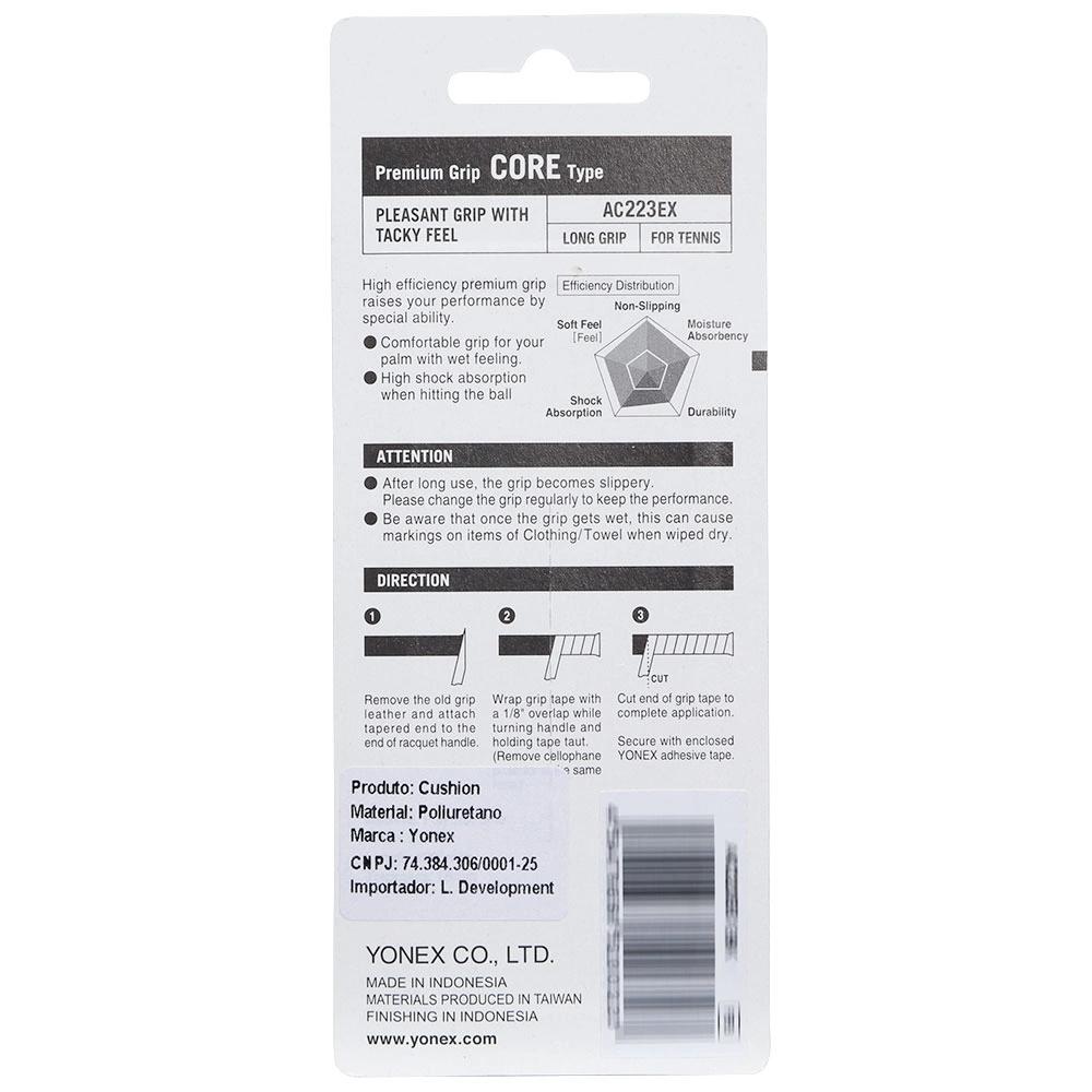 Cushion Grip Yonex Premium Core Type AC-223 - Preto  - PROTENISTA