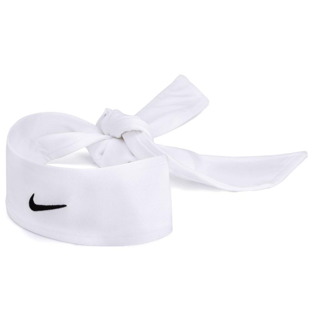 Faixa Cabelo Nike Dri-Fit Head Tie 2.0 - Branco e Preto  - PROTENISTA