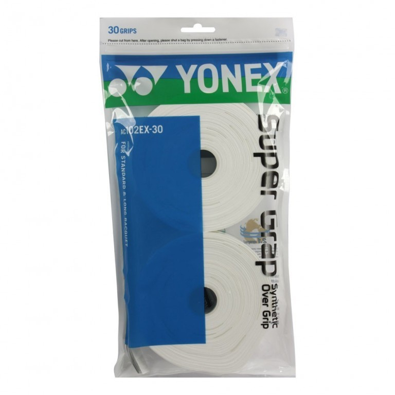 Grip Yonex Super Grap - Rolo C/ 30 Unidades - Branco   - PROTENISTA