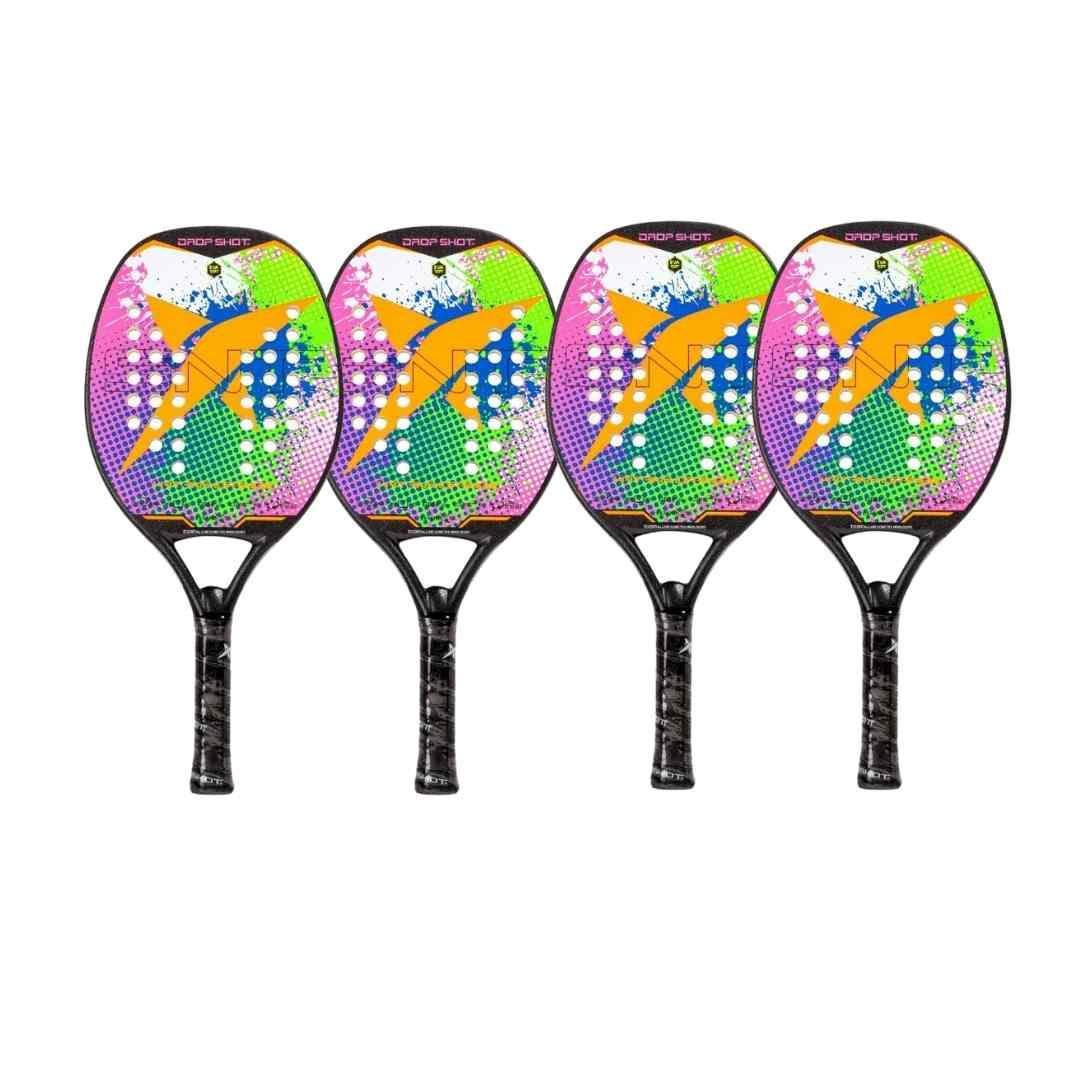 Kit com 4 Raquetes de Beach Tennis Drop Shot Katana - EXCLUSIVA  - PROTENISTA