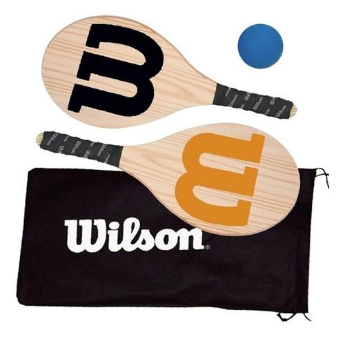 Kit Frescobol Wilson c/ 2 Raquetes, Bolinha e Capa   - PROTENISTA