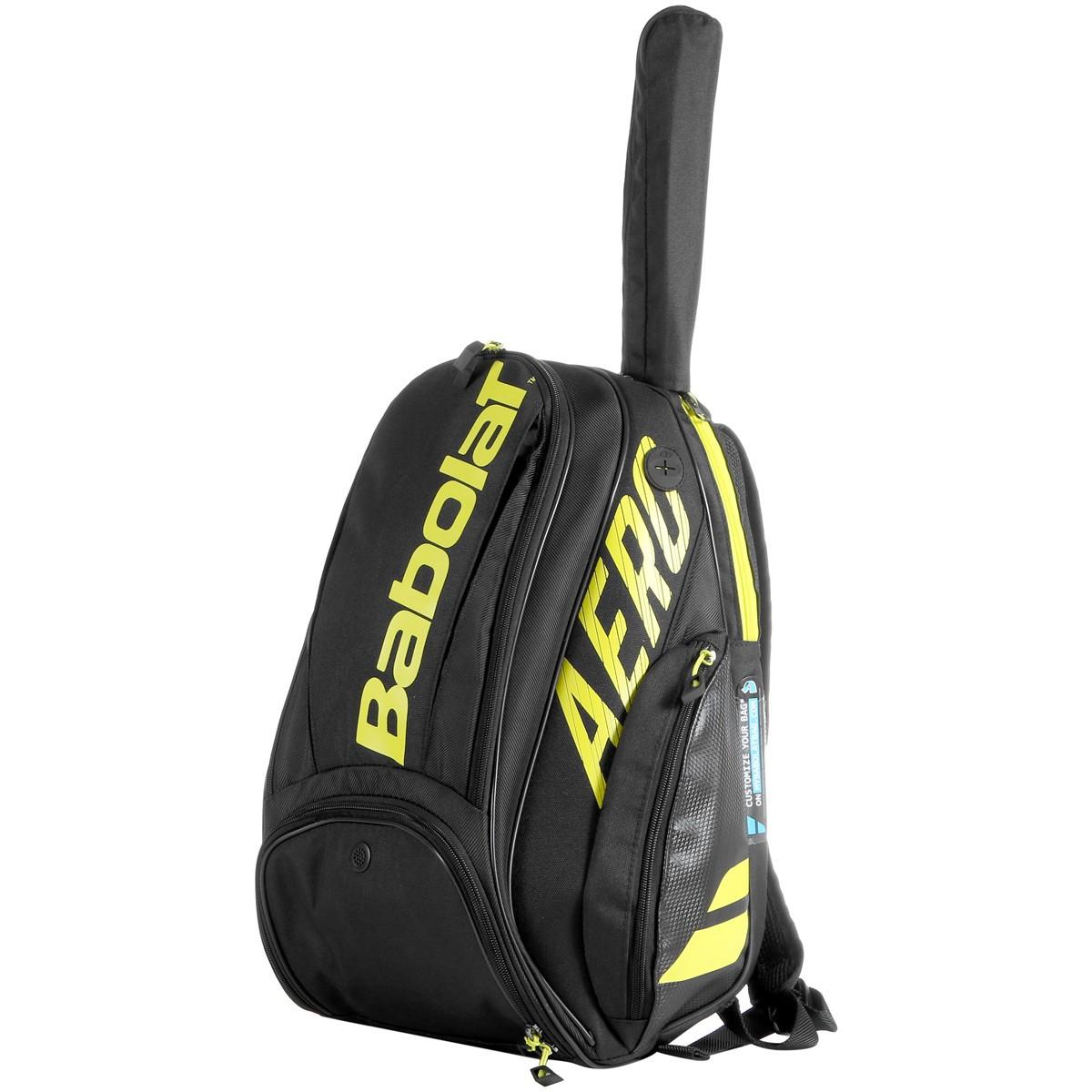 Mochila Babolat Backpack Pure Aero Preta e Amarela 2021  - PROTENISTA