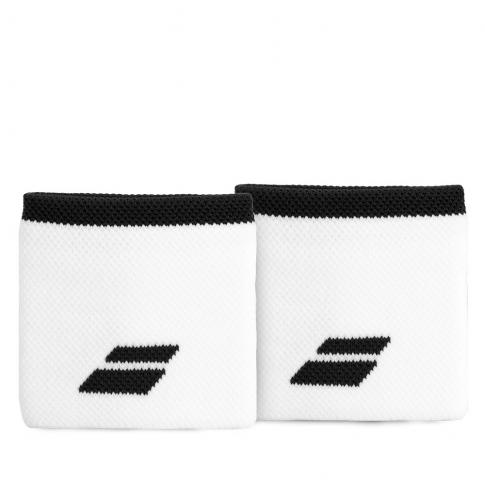 Munhequeira Babolat Logo Curta com 02 Unidades Branca e Preta  - PROTENISTA