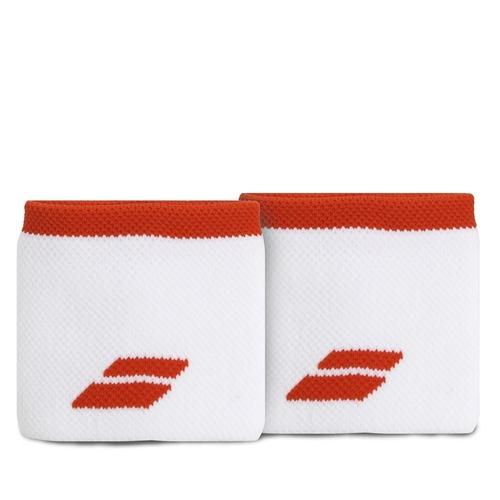 Munhequeira Babolat Logo Curta com 02 Unidades Branca e Vermelha  - PROTENISTA
