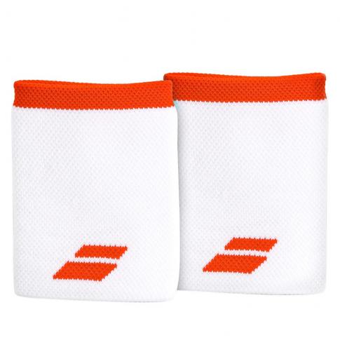 Munhequeira Babolat Logo Jumbo Longa com 02 Unidades Branca e Vermelha  - PROTENISTA