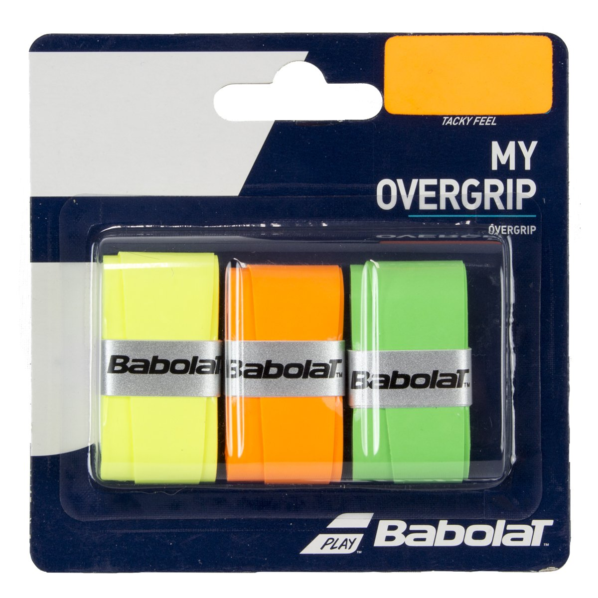 Overgrip Babolat My Overgrip X3 Laranja Verde e Amarelo  - PROTENISTA