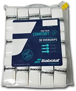 Overgrip Babolat Pro Tour Pack com 30 Unidades Branco  - PROTENISTA