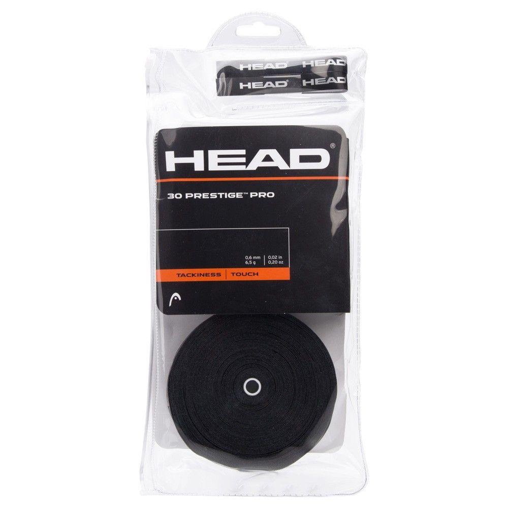 Overgrip Head Prestigie Pro Pack Branco com 30 Unidades - Preto