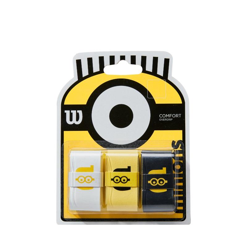 Overgrip Wilson MINIONS - Embalagem com 3 unidades   - PROTENISTA
