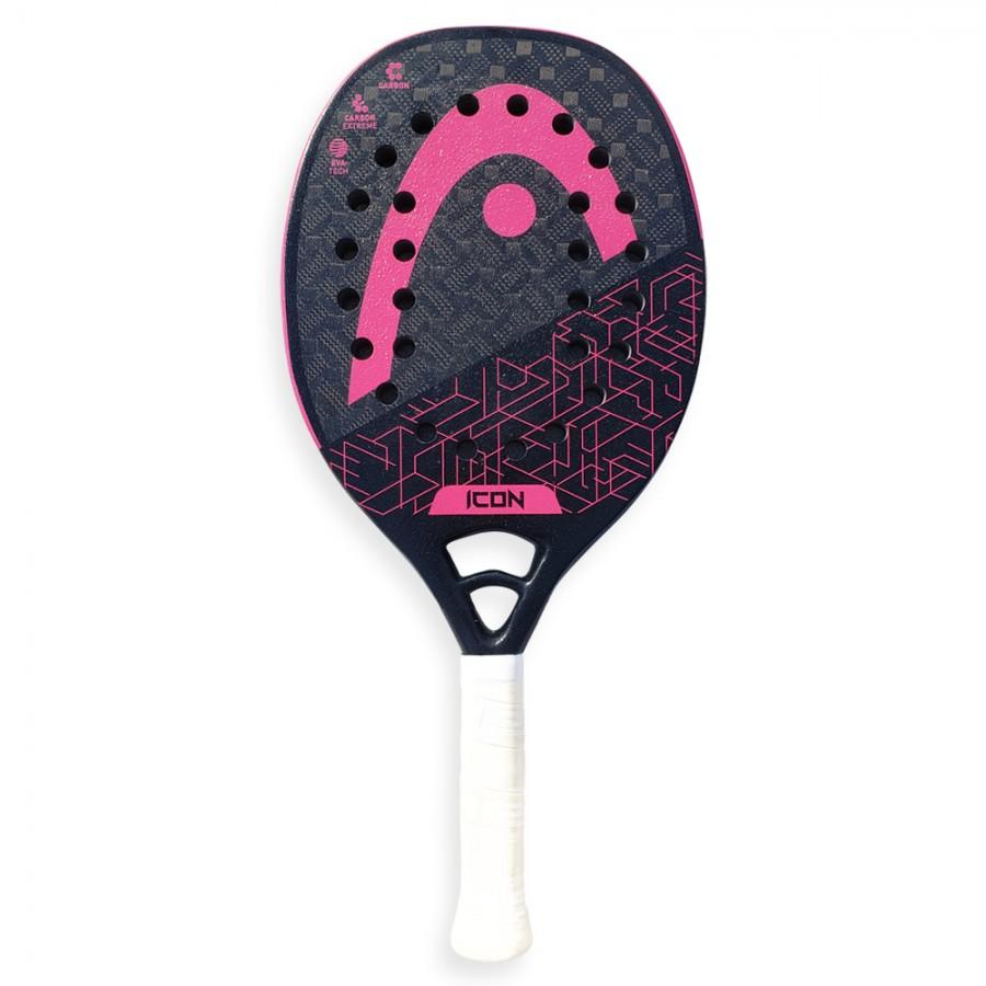 Raquete Beach Tennis HEAD ICON - Preto e Pink  - PROTENISTA