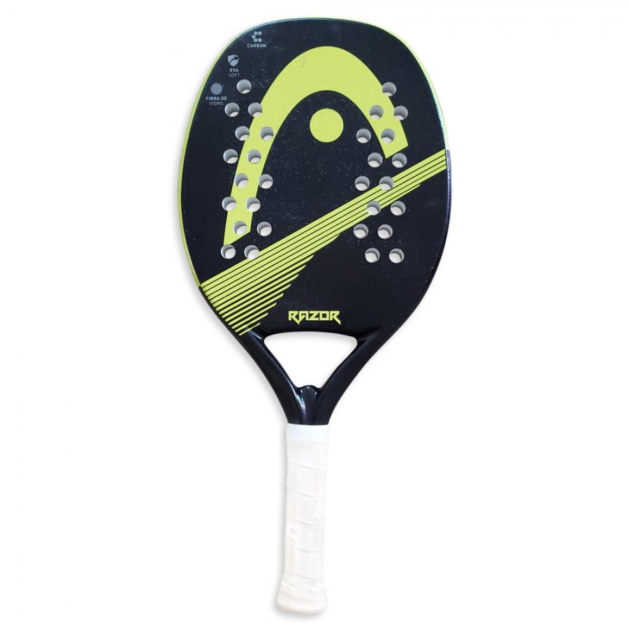 Raquete Beach Tennis HEAD RAZOR - Preta e Verde  - PROTENISTA