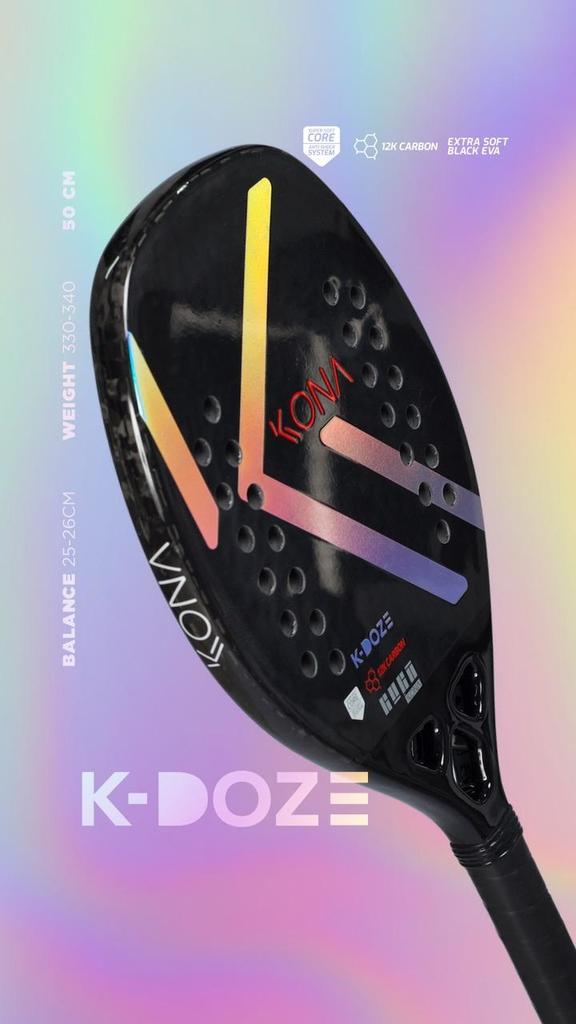 Raquete Beach Tennis Kona KDoze Silver  - PROTENISTA