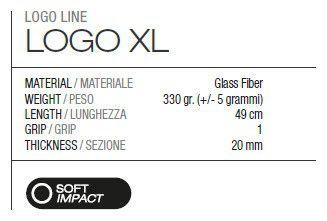 Raquete Beach Tennis MBT - LOGO XL BLACK
