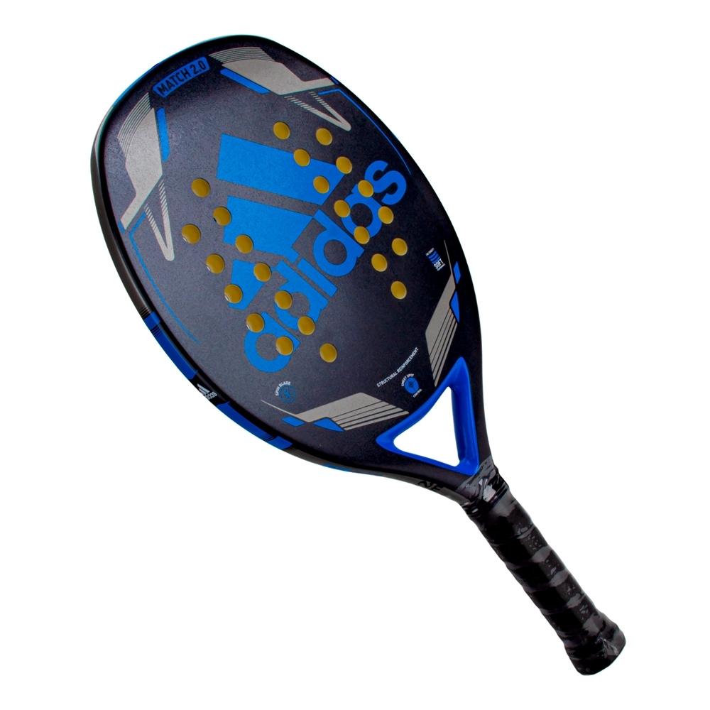 Raquete de Beach Tennis Adidas Match 2.0 Preta e Azul  - PROTENISTA
