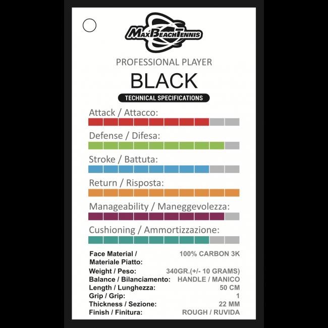 Raquete de Beach Tennis MBT - Black 2020