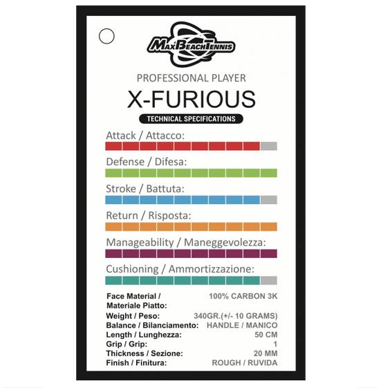 Raquete de Beach Tennis MBT - X-Furious 2020